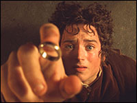 Elijah Wood plays Frodo in the Lord of the Rings