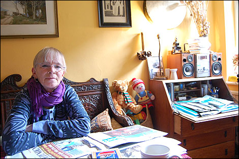 Lesley Boulton at home in 2009