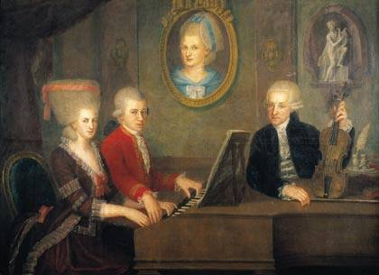 Image Gallery mozart and his family