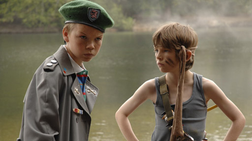 Son of Rambow (Bill Milner as Will Proudfoot and Will Poulter as Lee Carter)