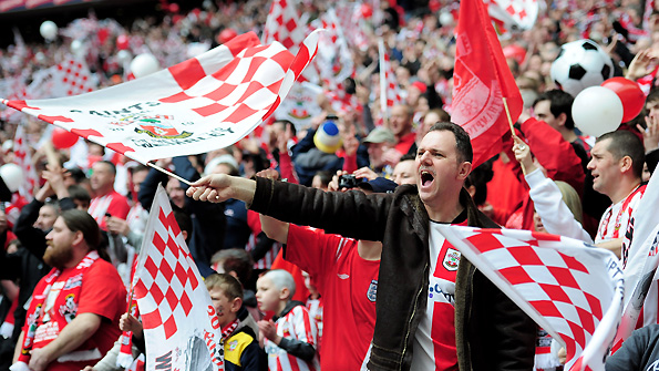 Southampton supporters at the 2010 JPT final.