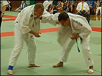 Coach Roberto Mascherucci in competition