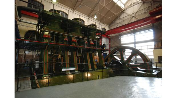 The River Don Engine in the Engine House of Kelham Island Museum in Sheffield. (c) Sheffield Industrial Museums Trust