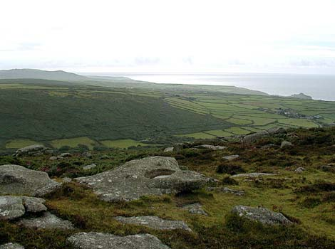 View across the west Penwith landscape
