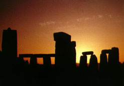 Stonehenge at sunrise on Summer Solstice