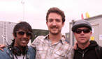 Frank Turner with Nihal, Mike Davies and Daniel P Carter before his performance