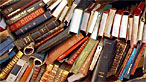 Photograph of a pile of books