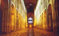 Photograph showing the interior of Ely Cathedral