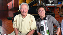 Jamie Cullum meets Hollywood star Clint Eastwood at his Los Angeles production studio