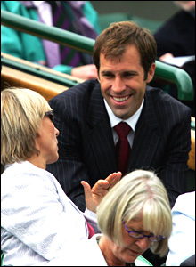 Greg Rusedski's been a big hit in the commentary box at this year's Wimbledon