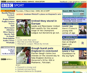 BBC Sport launched its website in 2000 in time for the Athens Olympics, here is a screen grab from that summer