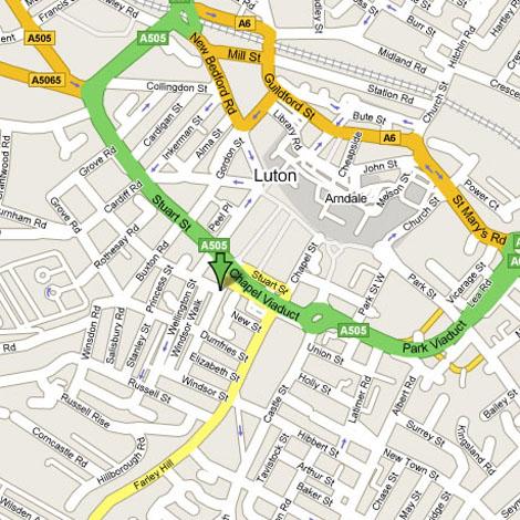 Luton Town Centre Car Park Map