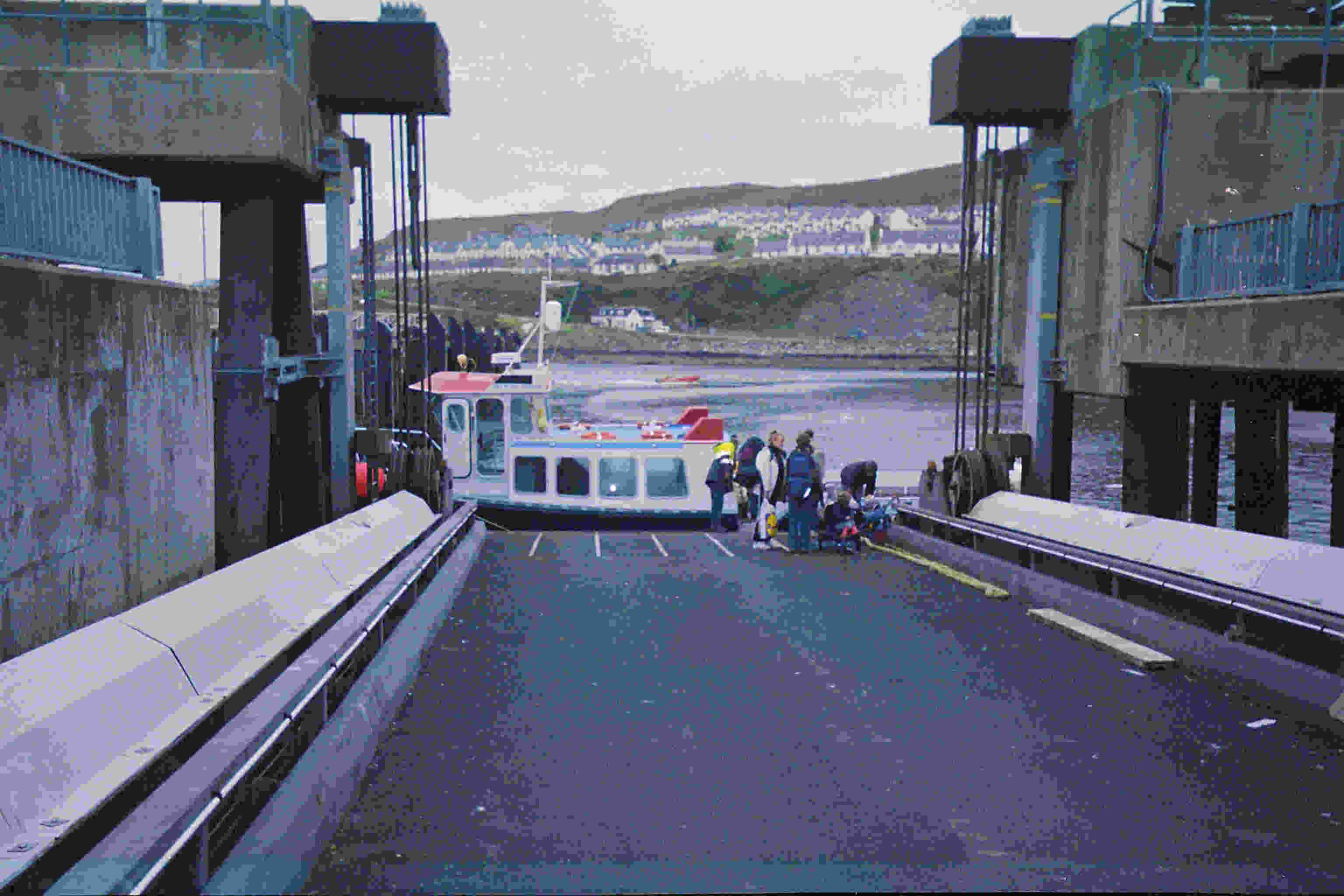 Small Isles ferry at the bottom of the Mallaig linkspan, October 2004