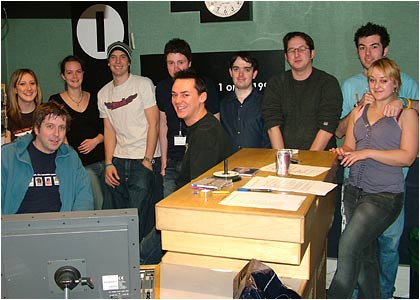Backstage at Ten Hour Takeover - January 2005
