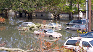 Scenes in New Orleans post Hurricane Katrina