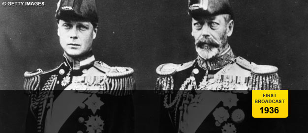 Edward, Prince of Wales, and his father, King George V.