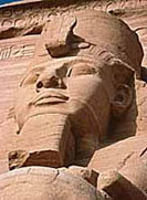 A stone carving of Ramesses II found at Abu Simbel