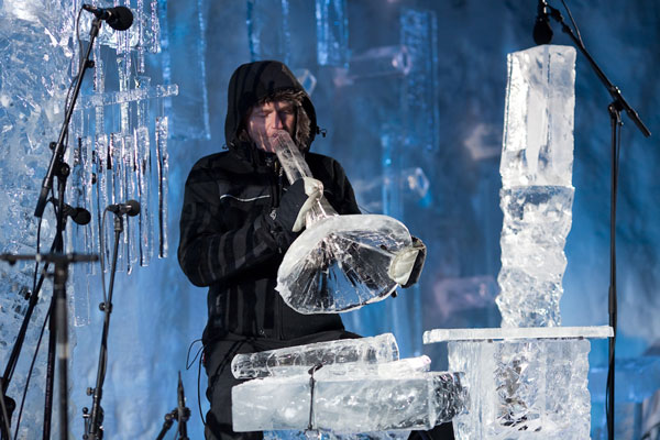 An ice trumpet at the Norwegian ice music festival.