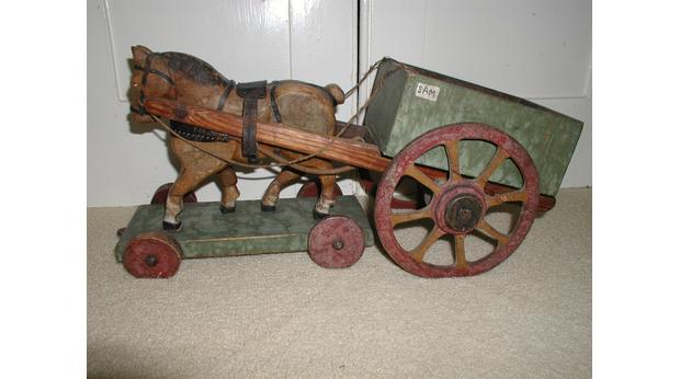 A Wooden Horse and Cart