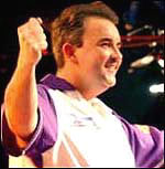 Phil Taylor celebrates another victory