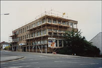 The station building under renovation in 1989
