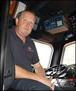 Mike Russell, Coxwain, Whitby lifeboat