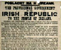 Poster proclaiming Irish Republic, 1916