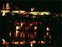 Prague nightime vista
