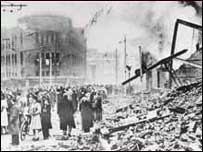 Broadgate bombed - WW2