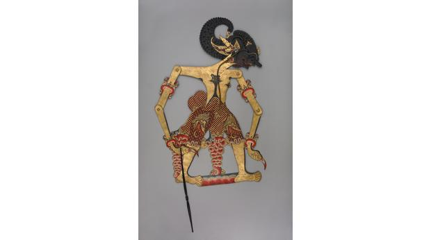The other side of the puppet. Copyright Trustees of the British Museum
