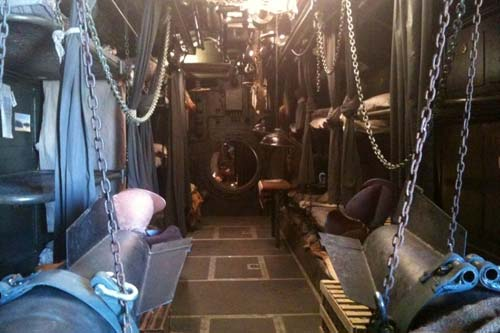 The interior submarine set