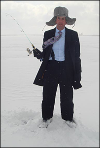Justin ice fishing