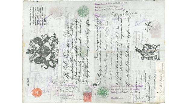 British Passport from early 20thC