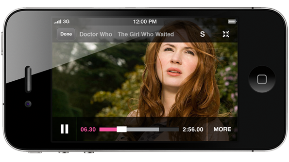 Dr Who playing on iPlayer on iPhone