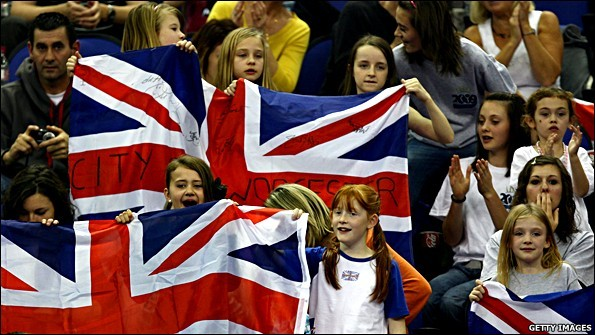 Young fans at the O2 Arena