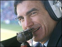 Trevor Brooking commentates on a game