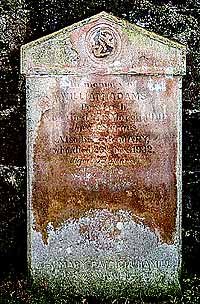 The headstone on William Adams's grave