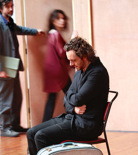 Michael Sheen in rehearsal at the Copperfield Rehearsal Rooms SE1. Photo: Simon Annand