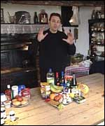 Chris Packham in the kitchen