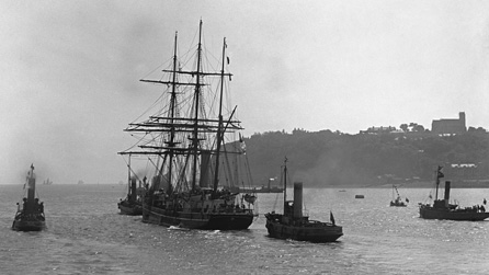 Scott's ship Terra Nova leaves Cardiff for Antarctica 15 June 1910 National Museum of Wales