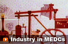 Watch 'Industry in MEDCs' video