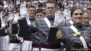 Cadets from the the United States Military Academy in West Point, New York.