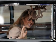 Princess Beatrice in her wedding hat