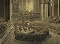 Nelson's funeral service,  St Paul's Cathedral, 9 January 1806