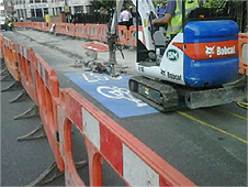 Cycle Highway being dug up