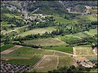 Farming land in France