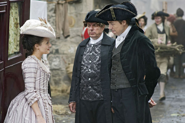 Andrew Buchan as William Garrow, Alun Armstrong as John Southouse, and Lyndsey Marshal as Lady Sarah Hill