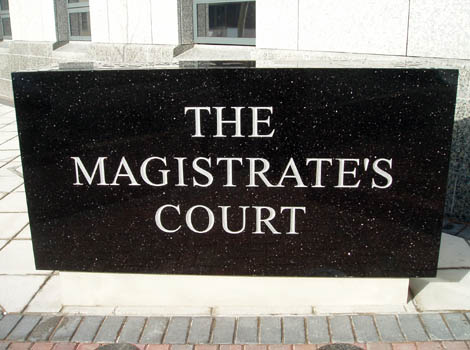 Magistrate's Court sign