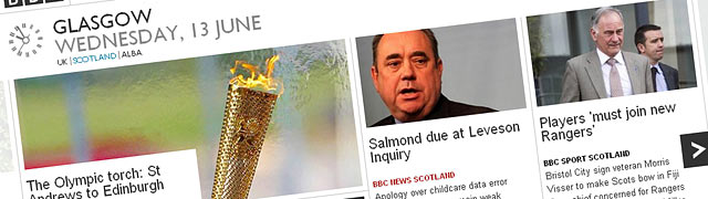 The new BBC Scotland homepage