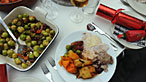 Photograph of Christmas dinner